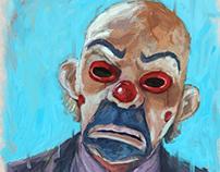 Painting portrait of heath ledgeras Joker in batman