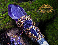 EOLANDE ELFQUEEN Amethyst Magic Crystal Wand