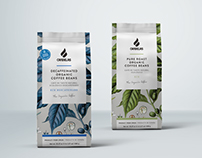 Cafés Candelas, The Organic coffe packaging.
