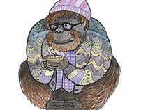 Orangutan Hipster