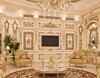 Classic interior design for villa reception