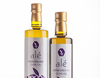 Alé Olive Oil Bottle Product Labels