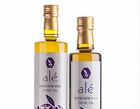 Alé Olive Oil Bottle Product Labels