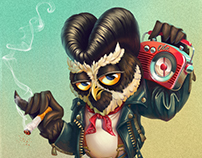 Owl Rockabilly