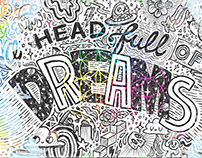 A Head Full of Dreams - Coldplay Doodle Art