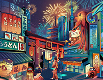 Illustration for Okamoto & Other works