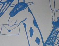 animal world-shop illustration paint