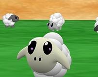 Sheep and Barn