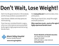 Don't Wait, Lose Weight! campaign billboards