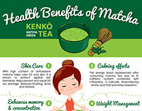 Matcha Green Tea Health benefits Infographic