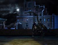 Alien on Roof