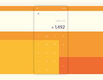 Daily UI 004: Very Orange Calculator App