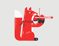 Orchestra Festival Animal Illustrations