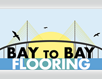 Logo and Business Card - Bay to Bay Flooring