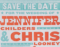 Save the Date: Jennifer + Chris