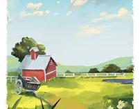 Landscape-Digital painting