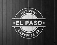 "Logo ""El Paso"" Sandwich co"