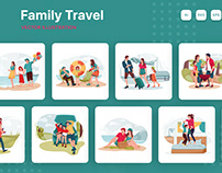 Family Travel Illustrations