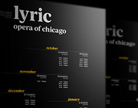 LYRIC OPERA OF CHICAGO typography poster