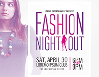 Fashion Night Out Flyer Templates