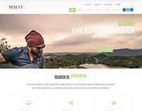 MacoX - Responsive Multipurpose Template