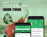 Fanatik Canlı Skor - Sport App Mobile Design