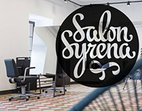 "Calligraphy logo for ""Salon Syrena"" (Lublin)"