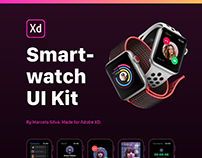 Smartwatch UI Kit for AdobeXD