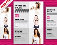 Winter Sale Flyer PSD Freebie
