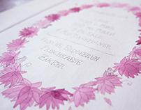Floral Recipe Print