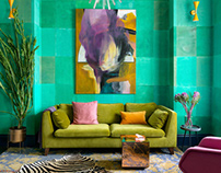 Bright apartment with a very bold design