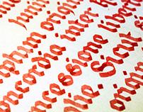 Magna carta calligraphy