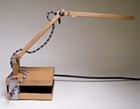 Cherry Wood Desk Lamp