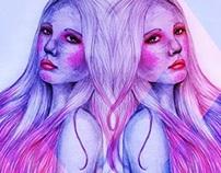 Menina de cabelo rosa