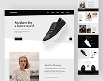 New Movements Sneakers - Onepage design