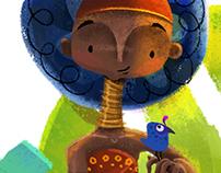 Ilustración niña africana