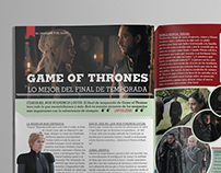 Editorial Design: GoT MAGAZINE SPREAD