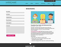 Whereoware Landing page and illustration design