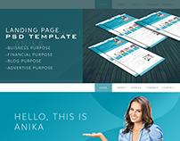 ANIKA Corporate  PSD Landing Page Design Template