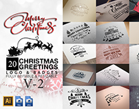 Christmas Greetings Logo & Badges V2