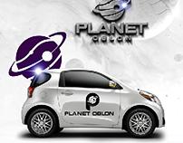 Planet Oblon Logo Branding
