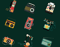 """Shoot/Sound/Call from the past"" illustrations"