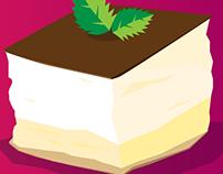 Krémeš Cake Illustration