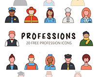 Professions Vector Free Icon Set