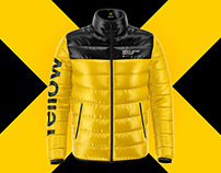 4 Men's Down Jacket PSD Mockups