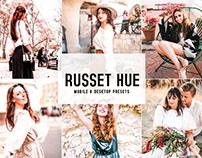 Russet Hue Mobile & Desktop Lightroom Presets