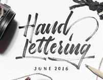 Hand Lettering - June 2016