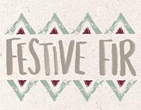 Festive Fir Greeting Card Range