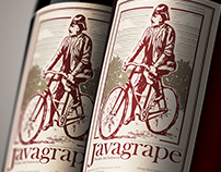 Javagrape Wine Label Design