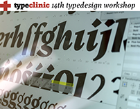 Join TypeClinic's 14th type design workshop!